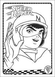 plansa de colorat speed racer de colorat p01