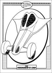 plansa de colorat speed racer de colorat p20
