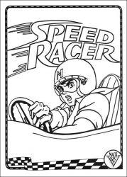 plansa de colorat speed racer de colorat p25