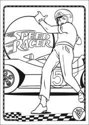 plansa de colorat speed racer de colorat p33