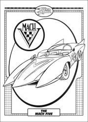 plansa de colorat speed racer de colorat p35