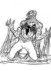 plansa de colorat spiderman de colorat p18