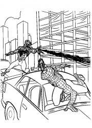 plansa de colorat spiderman de colorat p28