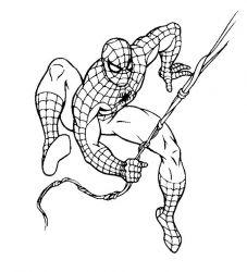 plansa de colorat spiderman de colorat p38