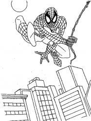plansa de colorat spiderman de colorat p41