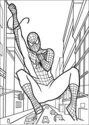 plansa de colorat spiderman de colorat p47