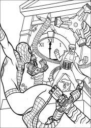 plansa de colorat spiderman de colorat p53