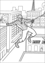 plansa de colorat spiderman de colorat p54
