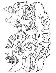 plansa de colorat stelute de colorat p26