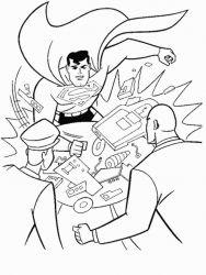 plansa de colorat superman de colorat p02