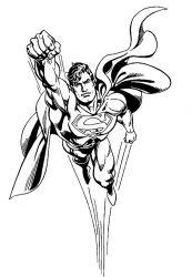 plansa de colorat superman de colorat p03