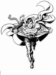 plansa de colorat superman de colorat p04