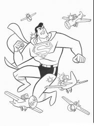 plansa de colorat superman de colorat p05