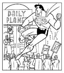 plansa de colorat superman de colorat p07