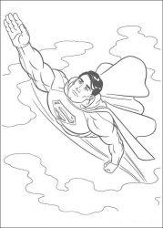 plansa de colorat superman de colorat p10