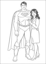 plansa de colorat superman de colorat p11