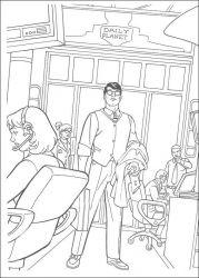 plansa de colorat superman de colorat p13