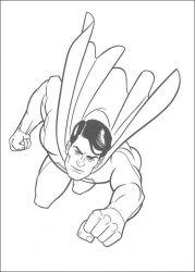 plansa de colorat superman de colorat p14
