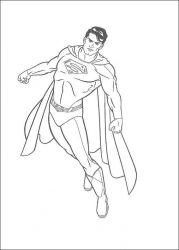 plansa de colorat superman de colorat p15
