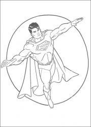 plansa de colorat superman de colorat p17