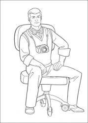 plansa de colorat superman de colorat p19
