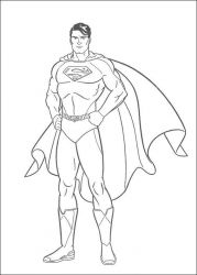 plansa de colorat superman de colorat p21