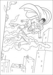 plansa de colorat superman de colorat p22