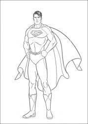 plansa de colorat superman de colorat p23