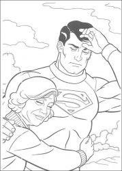 plansa de colorat superman de colorat p24