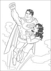 plansa de colorat superman de colorat p26