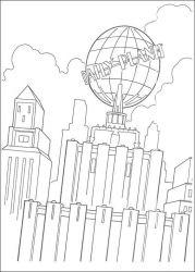 plansa de colorat superman de colorat p27