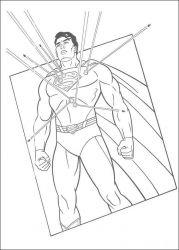 plansa de colorat superman de colorat p28