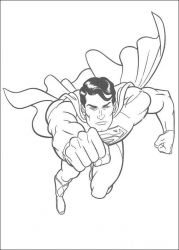 plansa de colorat superman de colorat p30