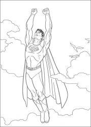 plansa de colorat superman de colorat p32