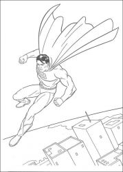 plansa de colorat superman de colorat p34