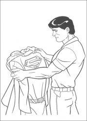plansa de colorat superman de colorat p35