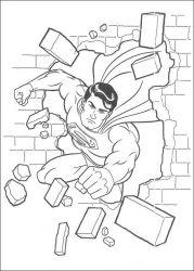 plansa de colorat superman de colorat p36
