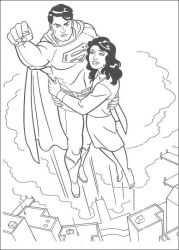 plansa de colorat superman de colorat p39