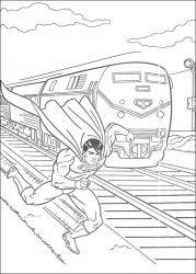 plansa de colorat superman de colorat p41