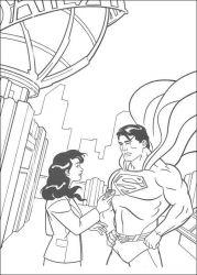 plansa de colorat superman de colorat p42
