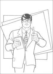 plansa de colorat superman de colorat p47