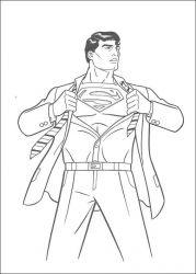 plansa de colorat superman de colorat p48