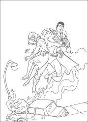 plansa de colorat superman de colorat p50