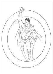 plansa de colorat superman de colorat p51