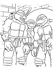 plansa de colorat testoasele ninja de colorat p01