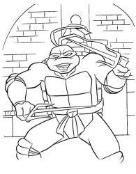 plansa de colorat testoasele ninja de colorat p04