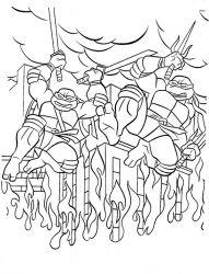plansa de colorat testoasele ninja de colorat p05