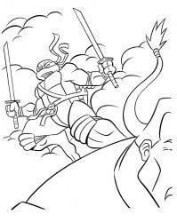 plansa de colorat testoasele ninja de colorat p13
