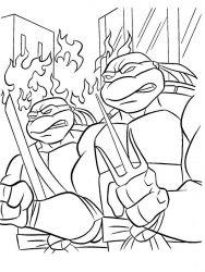 plansa de colorat testoasele ninja de colorat p14