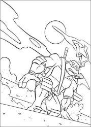 plansa de colorat testoasele ninja de colorat p19